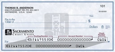Image of a check
